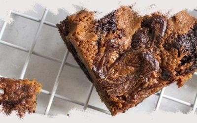 Receta de cremoso brownie de chocolate sin gluten
